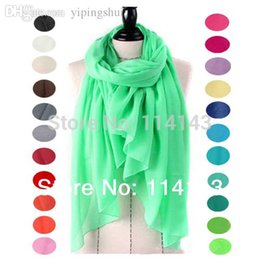 Wholesale Muslim Head Scarf Accessories - Wholesale-10pcs lot Solid Plain Color Viscose Shawl Scarf Head Wrap Hijab Muslim Scarves Women's Accessories , Free Shipping