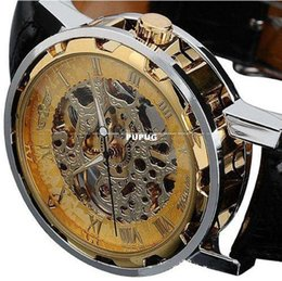 modern mechanical watches Australia - Newest wristwatches modern unisex watches Susenstore Classic Men's Leather Dial Skeleton Mechanical Sport Army Wrist Watch
