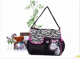Wholesale Nappies Patterned - 2016 New large Capacity Mummy Mags Hot Sale Cartoon Pattern Multi Function Baby Diaper Bags Tote Organizer Nappy Bolsas free shipping