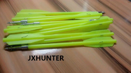 Wholesale Hunt Crossbow - 30 pieces 6.6 inches Crossbow Bolts 50-130lb fishing Hunting with Steel Tips in green color