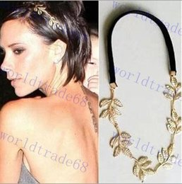 Wholesale Grecian Wholesalers - Leaf Leaves Grecian Garland Head Hair Band Headband Gold Olive Branch