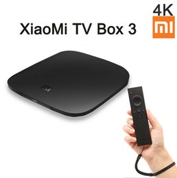 Wholesale Andriod Player - In Stock New Original XIAOMI TV BOX 3 Andriod 5.0 Quad Core 4K Media Player S905 64Bit BT4.1 HDMI 2.0Dual-band Wi-Fi Xiao Mi Box
