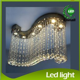 Wholesale Crystal Hanging Ceiling - S Design Pendant Light Crystal Chandeliers Crystal Hanging Lamps Creative Crystal Pendant Lamp Luxury Bedroom Living Room LED Ceiling Light