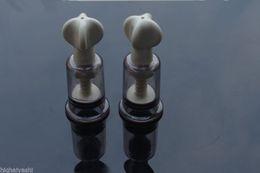 Wholesale Vacuum Clamping - 2pcs-Nipple-Clamps-Vacuum-Pussy-Clitoris-Breast-Sucker-Pump-Sex-Toy-For-Women