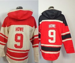 Wholesale Ice Cream China - Factory Outlet, Wholesale 9 HOWE red cream cheap sweatshirts gordie howe jerseys ice hockey jersey cheap nhl jerseys china
