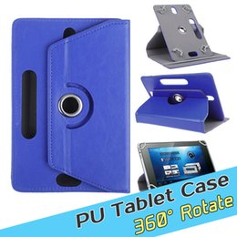 Wholesale Mini Android Tablet Covers - Universal 360 Degree Rotating PU leather Tablet Case Cover Android 7 8 9 10 inch Fold Flip Built-in Card Buckle for mini ipad