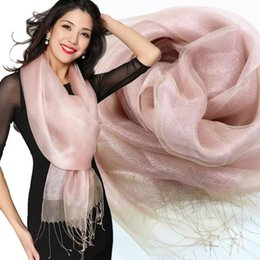 Wholesale Silk Woven Scarves - Mulberry Fashion high-grade real silk scarves Ms silk double elegant silk scarf multicolor free shipping HS005