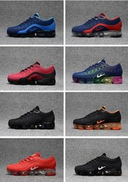 Wholesale Cut Watermelon - High quality New 2018.5 Air Vapormax Men Casual Lace-up low cut Patchwork rainbow Soles Sport Running Shoes Sneakers 40-47