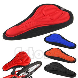 Wholesale Bike Seat Gel Cover - Wholesale-New Silicone Cycling Bicycle Bike Saddle Silica Gel Cushion Soft Pad Seat Cover