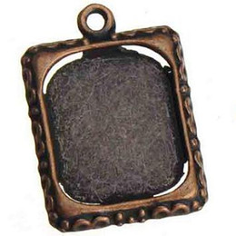 Wholesale Antiques Frames - antique copper photo frame charms metal vintage new diy fashion jewelry accessories and findings necklaces bracelets 25*18mm 100pcs
