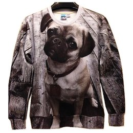 Wholesale Dog Couture - w20151222 Couture Fashion 3D Puppy dog print Novelty Casual Sweatshirts For Men Women spring loose pullover hoodies full sleeve top shirts