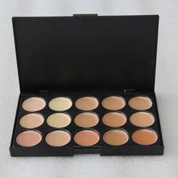 Wholesale Pro Tools Mixing - 15 Colors Concealer Foundation Contour Face Cream Makeup Palette Pro Tool for Salon Party Wedding Daily 0061-10MU