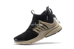 Wholesale X Cork - ACRONYM x Air Presto Mid Tenebrous Basketball Shoes Mens ACRONYM x Air Presto Mid Tenebrous Sneakers For Sale Size US 7-11