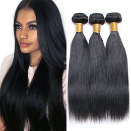 2019 billige 14-zoll-peruanische haarbündel Brasilianisches gerades Menschenhaar 3 Bundles / Lot Natural Black Günstige Haarverlängerungen 8-28 Zoll indische malaysische peruanische Haarbündel günstig billige 14-zoll-peruanische haarbündel