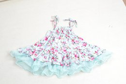 Wholesale Dress Cotton Vintage Sleeve - 2015 spring summer baby girls kids vintage flower tutu dress floral dresses pettiskirt tulle skirt lace ballet dress princess wholesale