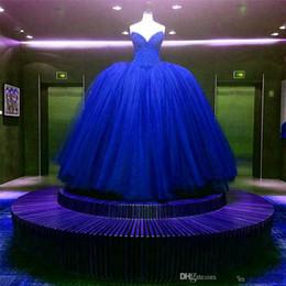 Argentina Nuevo Totalmente Crystal Beaded corpiño corsé azul real vestidos de novia vestidos de bola personalizados hecho brillante vestido nupcial vestido longo de renda 418 cheap royal blue corset wedding dress Suministro