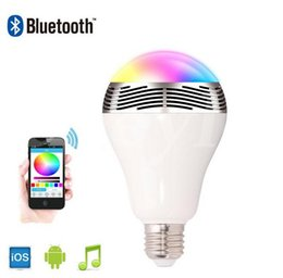 Wholesale Color Change Bulbs Control - SmartBulb Wireless Bluetooth Audio Speakers E27 LED RGB Light Music Bulb Lamp Color Changing via WiFi App Control