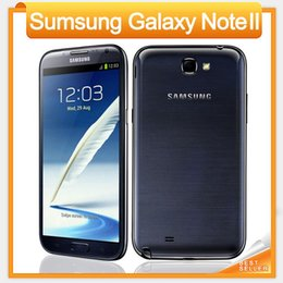 Wholesale Mobile Phone Note Ii - Original Samsung Galaxy Note II 2 N7100 Mobile phone Quad Core 2GB RAM 16GB ROM Unlocked 3G NFC Refurbished Phone