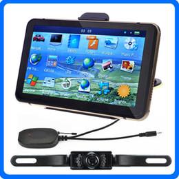 """Wholesale Night Vision Car Camera System - HD 7"""" Bluetooth Car GPS Navigator+Wireless IR Night Vision Reverse Camera POI AVIN GPS Navigation System With 4GB IGO Primo Maps"""