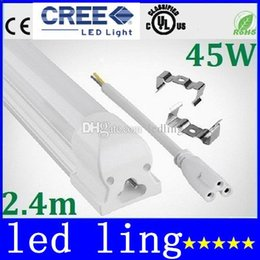 Wholesale Smd3528 Natural White - LED Tubes 45W 4800 Lumens Ultra Bright T8 Led Tube Light Integrated SMD3528 LED fluorescent Tube Warm Natural Cool White 110-240V CE ROHS