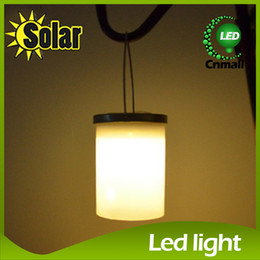Wholesale Solar Power Lantern Lights - LED Sloar Light Solar Power Hanging Cylinder Lanterns Outdoor Stainless Steel Solar Lights Outdoor Garden Light Night Llight Waterproof Lamp