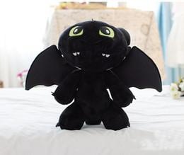 "Wholesale Cheap Wholesale Stuffed Toys - Hot sale 13"" 33cm HOW TO TRAIN YOUR DRAGON MINI PLUSH Toothless Night Fury Stuffed Animal toy Doll Black Anime Comics Cheap"