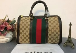 Wholesale Canvas Bag Size - 2017 new classic quality lady real scale rapid size;33 * 20 * 18CM handbag, wallet aglet tote bag