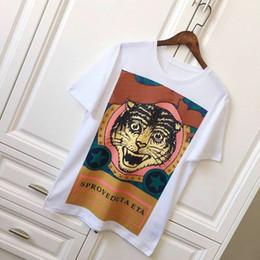 Wholesale City Los Angeles - 18ss Luxury Europe Milano Los Angeles Paris City High quality design Tshirt Fashion Men Women Tiger Head Star printing T Shirt t shirts Casu