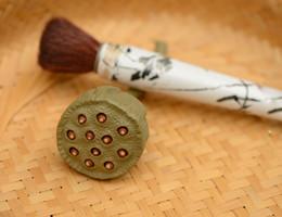 Wholesale Purple Washers - Yixng purple clay tea brusher washer pen holder tea pet