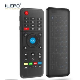 Wholesale Wholesale Axes - H1 Full Touchpad Wireless Keyboard 2.4GHz 6-Axis Gyro 2.4GHz Air Mouse Remote Control for SBox Andriod TV Box X96 S905W H96 better Rii i8