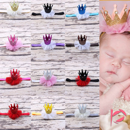 Wholesale Crown For Sale Baby - Hot Sale 12 Color 1PC Children 15inch Hair Accessories Crown Hairbands Baby Headband for Girls Boys Headband DHL Free
