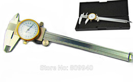 Wholesale Caliper Tools - Wholesale-150 mm 6inch Vernier Caliper with Dial Jewelry Tools Digital Caliper gauge dial vernier caliper 0-150mm