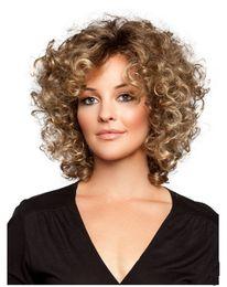 mistura de cor de cabelo castanho preto Desconto ZhiFan encaracolado perucas olhar perucas de cabelo natural para as meninas negras perucas olhar real curto 14 polegadas marrom cor clara mix de moda
