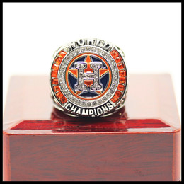 Wholesale Fan Set - Newest Men fashion sports jewelry 2017 Houston AStros Alt uve championship ring fans souvenir gift