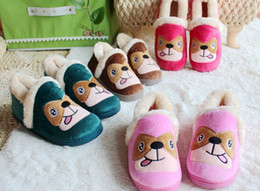 Wholesale Cotton Padded Slippers - Wholesale-cartoon thick warm winter padded bag with cotton slippers plush home wholesale & retail LSL3025
