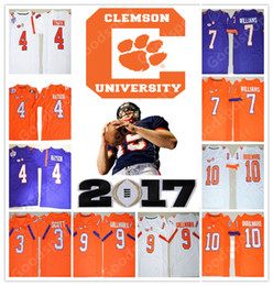 Wholesale Orange Patches - NEW NCAA PATCH Clemson Tigers College DeShaun Watson Mike Williams Boulware Scott Gallman II 2017 STITCHED JERSEY FOOTBALL HOT