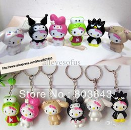 Wholesale Woman Kitty - Wholesale-High Quality PVC Delicate Cute Anime Figure Magic Shapeshifting Hello Kitty Keychain Boutique Keyring Car Decoration