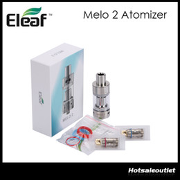 Wholesale Head Stock - HUGE STOCK NOW!!Original e cigarette Tank Eleaf Melo 2 Atomizer 4.5ML Melo 2 Tank with EC Head for istick 40w 60w