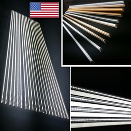 Wholesale Nature Shopping - shop led tube light 72 36 48 24 inch double side v shaped led lights customized red green blue color factory on sale