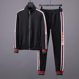 Wholesale Long Black Sweaters - G 2017 Autumn Winter New Men's Casual Sweater Sports Suit Fashion Simple Upper Body Effect Good Black High-Density Webbing Black Sportswea