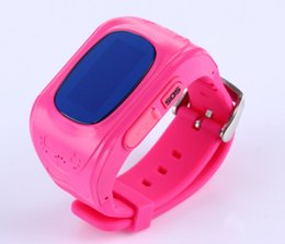 Wholesale Gps Tracker Bracelets - New Arrival! GPS Tracker Anti-Lost Smart Watch for Kids SOS Emergency Wristband Bracelet Smart Phone App for Child Kid