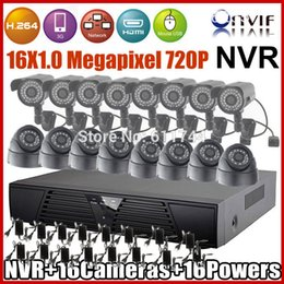 Wholesale Ip Dome Camera Price - Best price ONVIF 16CH 720P Resolution H.264 Network NVR Kits Indoor dome + Outdoor waterproof IP Camera CCTV System Plug&Play