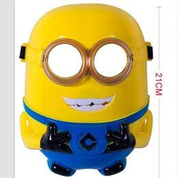 Wholesale Kids Minion Costume - LED light Masks Despicable Me Minion Mask Halloween costume Masquerade Party Plastic Cosplay mask kids mask cartoon free shipping ZJ1031