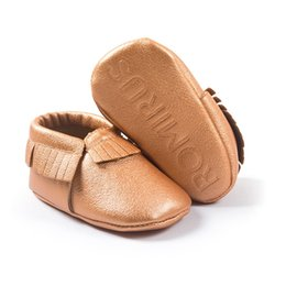 Wholesale Gray Brown Moccasins - Retail Brown Baby Boy Moccasin Handmade Fashion Newborn First Walker Baby Shoes