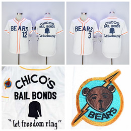 04498e0114d BAD NEWS BEARS MOVIE BUTTON DOWN JERSEY #3 Kelly Leak #12 Tanner Boyle  White Movie Stitched Baseball Jersey Stitched Logo