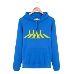 Wholesale Beatles Hoodie - WHOLESALE Hooded Pullover THE BEATLES ABBEY ROAD Rock Band Brand Hip Hop Spring Autumn Winter Hoodies Men Cotton Sports Sweatshirts