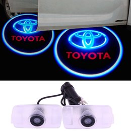 Wholesale Door Led Laser Welcome Projector - 1pair Led Laser Welcome Projector Light Led Car Door for Toyota Logo Dedicated Courtesy Laser Projector Logo Ghost Shadow no drilling 3W 12V