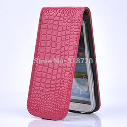 Wholesale Design Case For Galaxy S3 - For Samsung Galaxy S3 i9300 Crocodile grain design Magnetic Holster Flip Leather Hard Phone Case Cover Free Shipping B698
