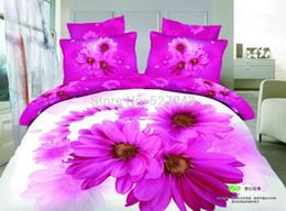 Wholesale 3d Oil Painting Bedding 4pcs - Sunflower Style Luxury 3D Oil Painting Print 4pcs Full Queen Bedding Set Bedclothes bed line Duver Cover Set