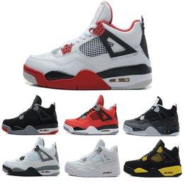 Wholesale Money Discount - Best Men Basketball culture Premium Black air Retro 4 Alternate Pure Money Black Cat discounts Sports Shoes size 41-47